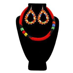Jewelry - Zulu/Maasai Red Multi Color Bead Wrapped Tribal